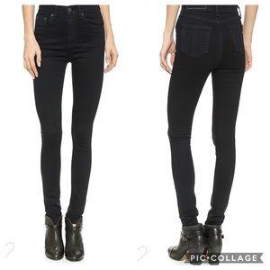 RAG & BONE | high rise Justine skinny jeans coal